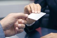 пустая карточка Стоковое Изображение RF