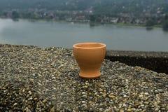 Пустая керамическая стопка Стоковые Фото