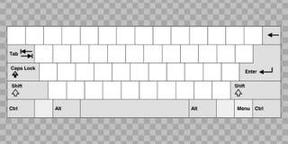 Пустая клавиатура компьютера Стоковые Изображения RF