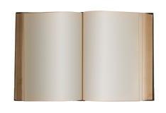 пустая книга изолировала Стоковое Изображение