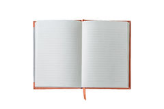 пустая книга изолировала Стоковое Изображение RF