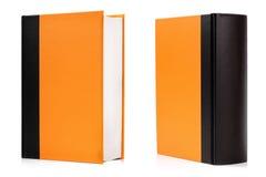 Пустая книга книга в твердой обложке на белизне Стоковое Фото