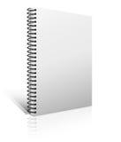 Пустая книга на белизне Стоковые Изображения RF