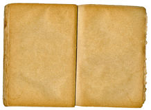 пустая книга обе старых открытых страницы Стоковая Фотография RF