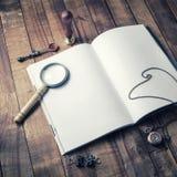 пустая книга раскрыла Стоковые Изображения