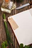 Пустая книга рецепта Стоковое фото RF