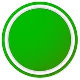 Пустая кнопка круга, предпосылка значка изолированная на белизне Стоковое Фото