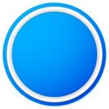 Пустая кнопка круга, предпосылка значка изолированная на белизне Стоковые Фото