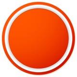 Пустая кнопка круга, предпосылка значка изолированная на белизне Стоковые Изображения