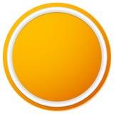 Пустая кнопка круга, предпосылка значка изолированная на белизне Стоковое фото RF