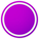 Пустая кнопка круга, предпосылка значка изолированная на белизне Стоковые Фотографии RF
