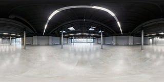 Пустая комната без ремонта полностью безшовная сферически панорама hdri 360 градусов в интерьере белой комнаты просторной квартир стоковая фотография rf