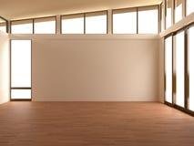 Пустая комната в современной комнате Стоковые Изображения