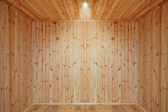 пустая комната деревянная Стоковые Фото