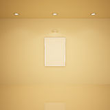 пустая комната иллюстрации рамки 3d Стоковое Фото