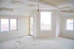 пустая комната незаконченная Стоковое Изображение