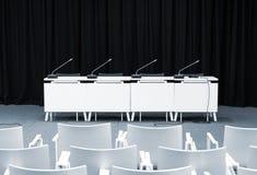 Пустая комната пресс-конференции Стоковые Фотографии RF