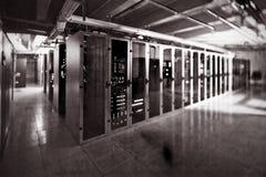 Пустая комната сервера стоковое фото