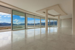 Пустая комната современного пентхауса Стоковое Изображение RF