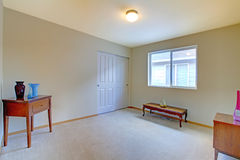 Пустая комната с античными стендом и шкафом Стоковые Изображения RF