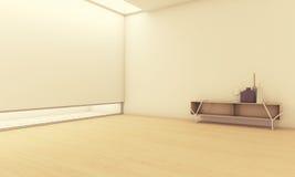 Пустая комната с вазами Стоковые Изображения RF