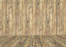 Пустая комната с деревянными стеной и полом Стоковое фото RF