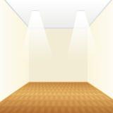 Пустая комната с деревянным полом иллюстрация штока