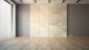 Пустая комната с жалюзи Стоковые Фотографии RF