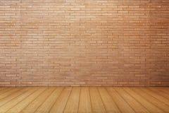 Пустая комната с красной кирпичной стеной Стоковая Фотография RF