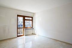 Пустая комната с мраморным полом Стоковая Фотография