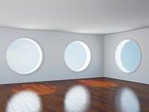 Пустая комната с окнами Стоковое фото RF