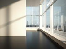 Пустая комната с светом солнца Стоковое фото RF