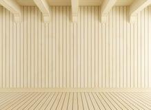 Пустая комната с светлой древесиной Стоковое фото RF