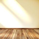 Пустая комната с стеной и деревянным полом. EPS 10 Стоковые Изображения RF
