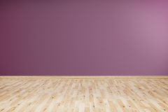 Пустая комната с фиолетовой стеной Стоковая Фотография