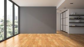 Пустая комната с shelfs книги иллюстрация штока