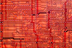 Пустая компьютерная технология платы с печатным монтажом, микропроцессор предпосылки стоковая фотография