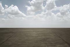 Пустая конкретная дорога Стоковое Изображение RF