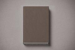 Пустая коричневая tissular трудная насмешка книги крышки вверх, лицевая сторона Стоковая Фотография