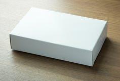 Пустая коробка белой бумаги Стоковая Фотография RF