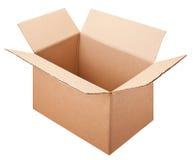Пустая коробка изолированная на белой предпосылке с путем клиппирования Стоковое Фото