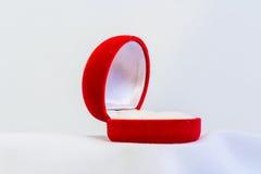Пустая коробка красного цвета кольца Стоковые Изображения