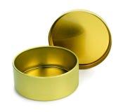 Пустая коробка олова для конфет Стоковое Фото