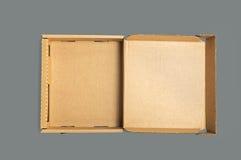 Пустая коробка формы сделанная из картона Стоковые Изображения