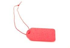 Пустая красная бирка подарка связанная с строкой Стоковое Изображение RF
