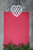 Пустая красная бумага Стоковое Фото