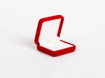 Пустая красная коробка для изолированного кольца Стоковое Изображение RF