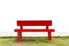 Пустая красная предпосылка вида на море стула и сумерк Стоковые Изображения