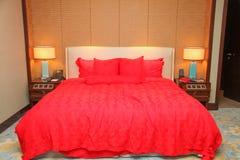 Кровать гостиницы Стоковое Изображение
