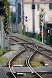 Пустая местная линия железная дорога на Камакуре стоковое изображение
